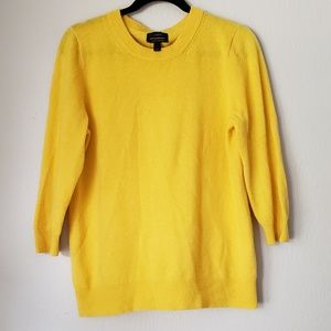 J. Crew Italian Cashmere Sweater Yellow